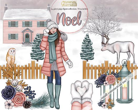 Noel - winter clipart