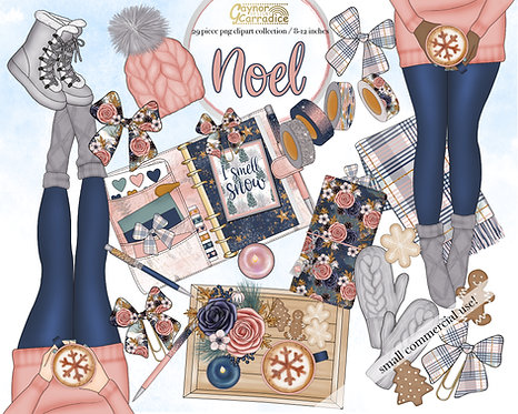 Noel planner clipart collection