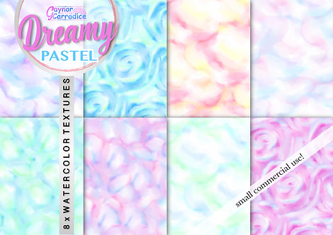 Dreamy Pastel Watercolor digital paper collection