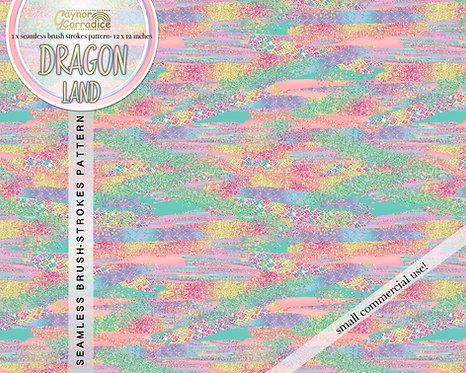 Dragon land brush strokes digital paper