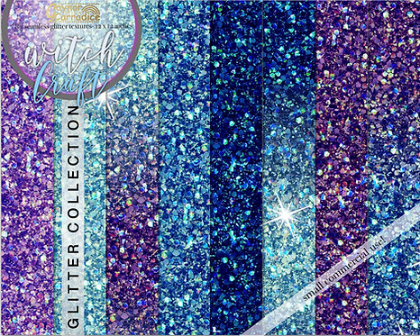 Witch craft glitter backgrounds collection