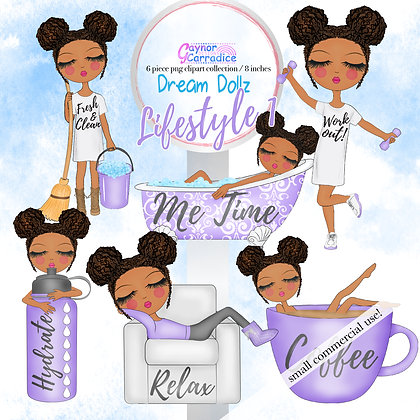 Dream Dollz, cute girl clipart collection, Lifestyle 1 - New Hairstyle
