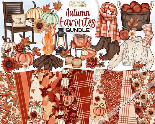 Autumn Favorites Clipart Bundle