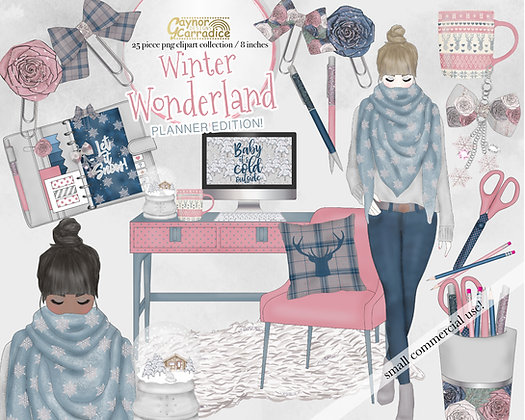 Winter Planner Clipart Collection