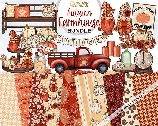 Autumn Farmhouse Clipart Bundle