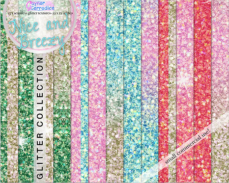 Nice and Breezy glitter digital paper collection