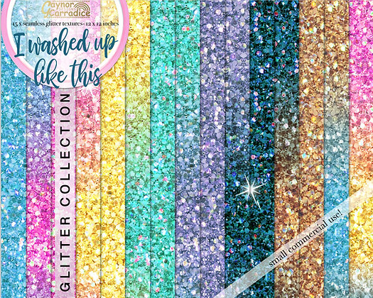 I washed up like this - Mermaid glitter backgrounds collection