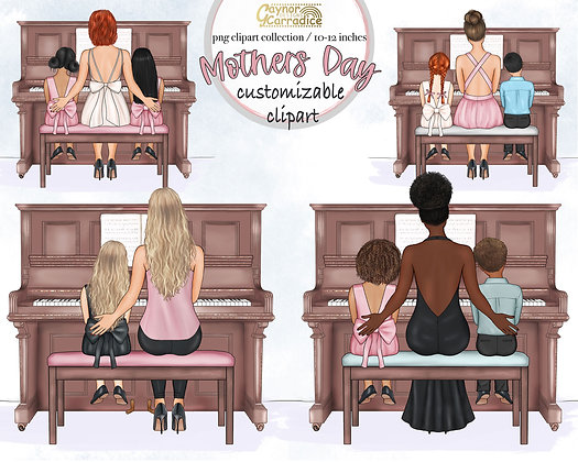MothersDay Customizable Clipart