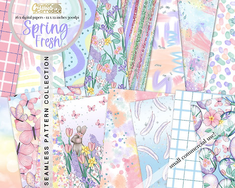 Spring Fresh Digital Papers