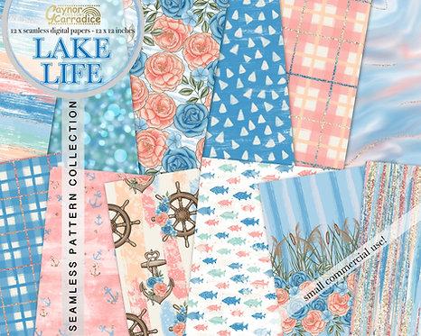 Lake life digital papers