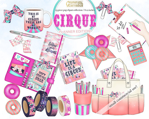 Circus planner clipart collection