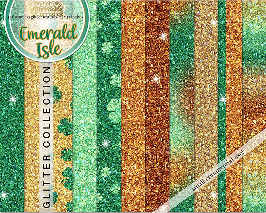 Emerald Isle Glitter Backgrounds