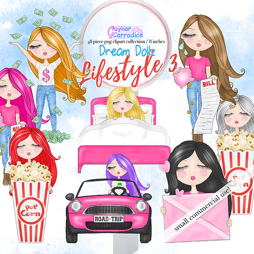 Dream Dollz, cute girl clipart collection, Lifestyle 3