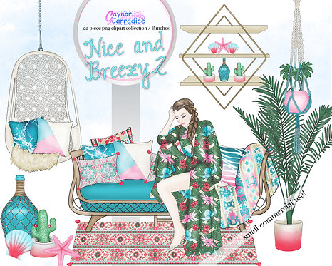 Surf Girl Clipart Collection 2