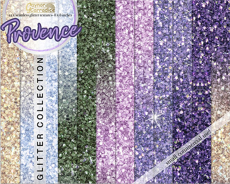 Spring Provence- pastel glitter backgrounds collection