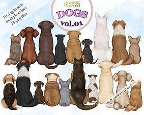Dogs-clipart besties custom watercolor 0