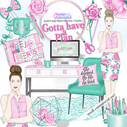 Planner Fashion Clipart Collection