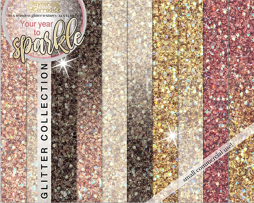 Your year to sparkle - new year glitter backgrounds collection