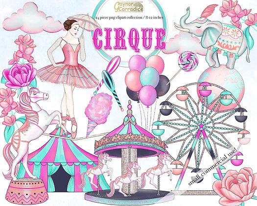 Cirque - circus clipart collection