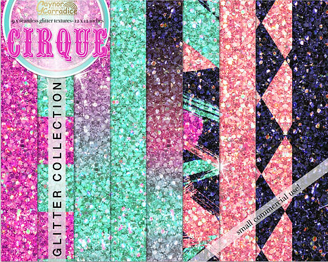 Cirque - circus glitter backgrounds collection