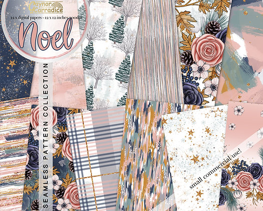 Noel abstract/floral Digital Papers