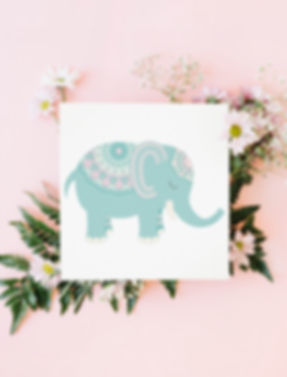 Elephant vector for nursery decor