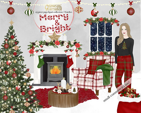 Cosy Christmas Clipart Collection
