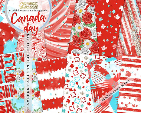 Canada Day Digital Papers
