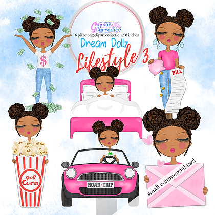Dream Dollz, cute girl clipart collection, Lifestyle 3 - New Hairstyle