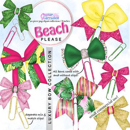 Beach Please Bow Clip collection