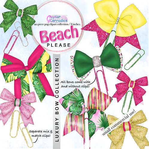 Beach Please Bow Clip collection