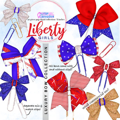 Liberty Girls Bow Clip collection