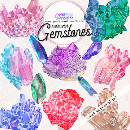 Natural Gemstones Clipart Collection