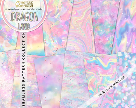 Dragon land Iridescence papers