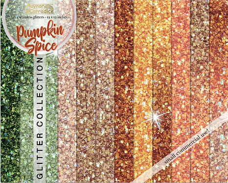 Pumpkin Spice glitter backgrounds collection