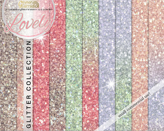 Lovely - valentines glitter backgrounds collection