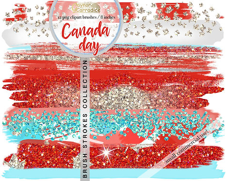 Canada Day Brush Strokes