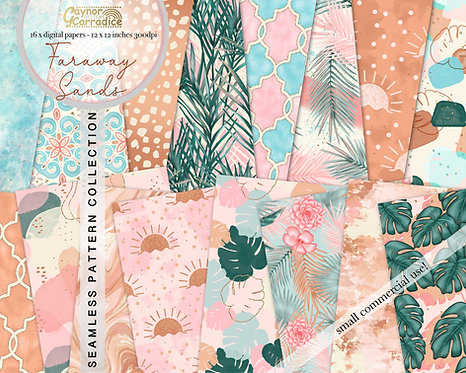 Faraway Sands Digital Papers