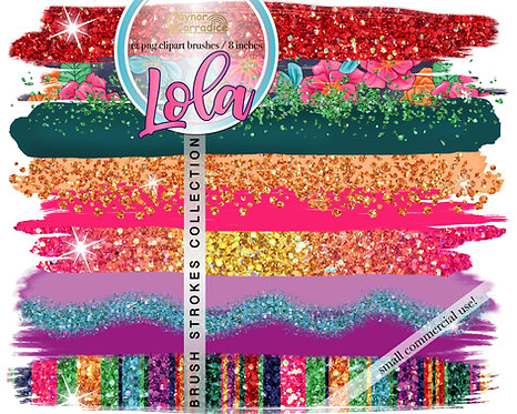 Lola -  Mexican Brush Strokes clipart collection