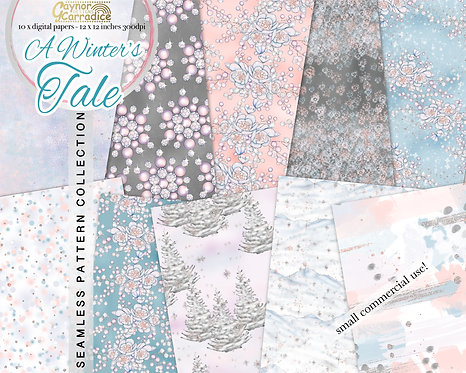 A Winter's Tale - Winter fairy tale seamless pattern collection