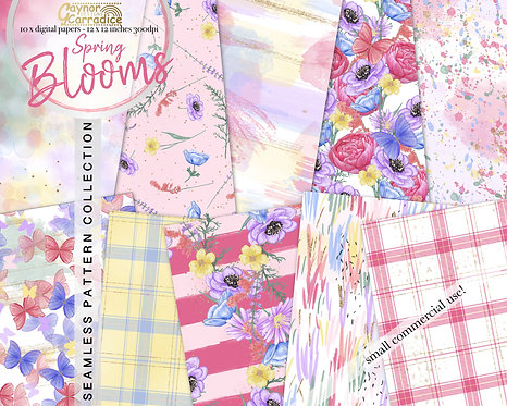 Spring Blooms - seamless pattern collection