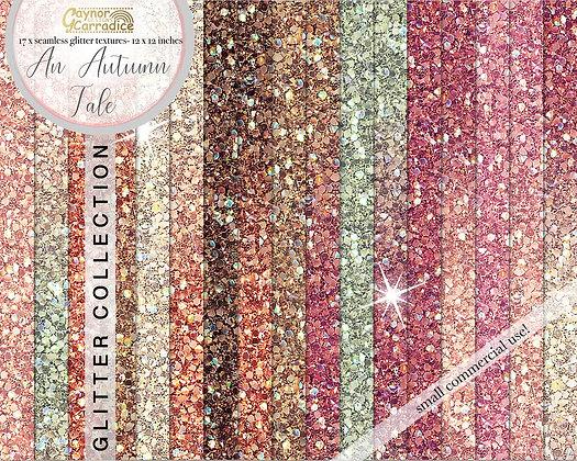 An autumn tale glitter backgrounds