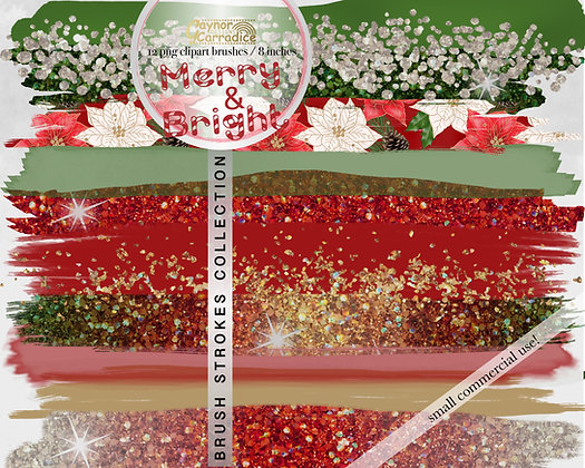 Christmas Brush Strokes clipart collection
