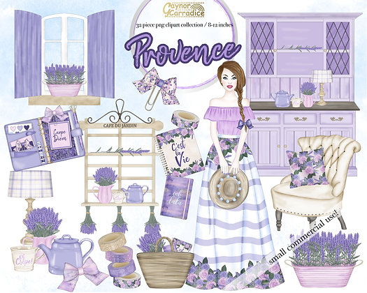 Provence planner clipart collection