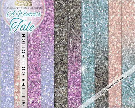 A winters tale- winter glitter digital paper collection