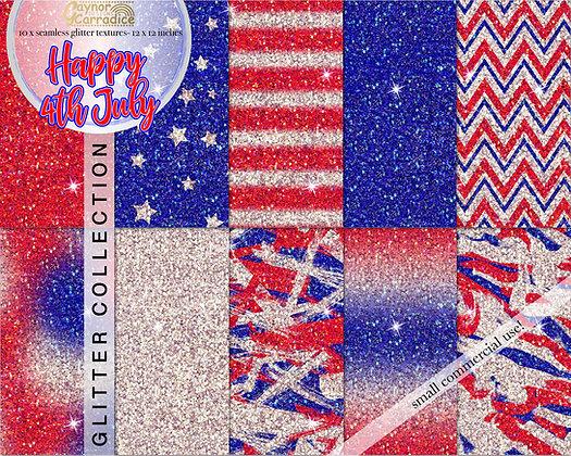 4th July glitter backgrounds
