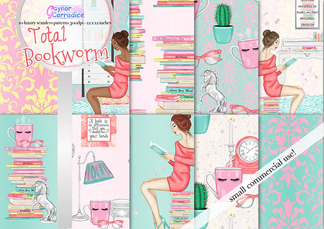 Reading, Planner Lover fashion digital paper collection