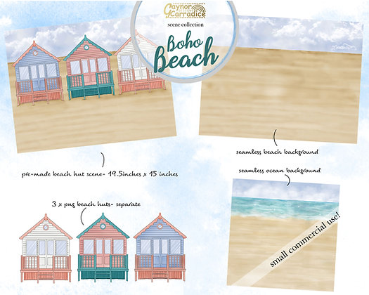 Boho beach scenes