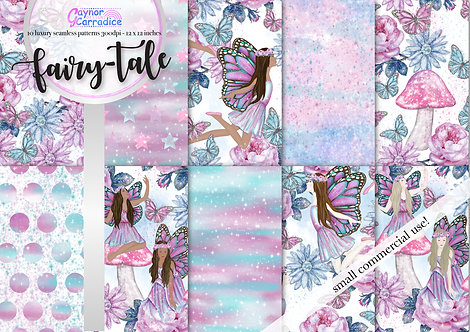 Fairy-tale digital paper collection
