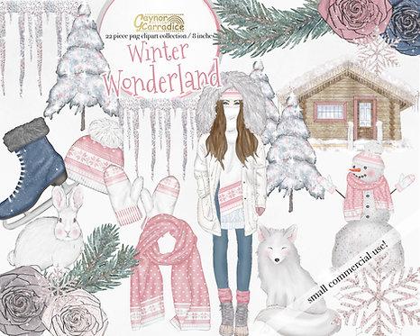 Winter Wonderland Fashion Clipart Collection
